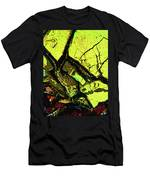Yellow Sky With Dead Cedar Men's T-Shirt (Athletic Fit)