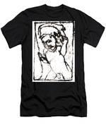After Mikhail Larionov Black Oil Painting 16 Men's T-Shirt (Athletic Fit)