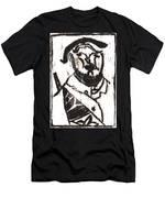 After Mikhail Larionov Black Oil Painting 2 Men's T-Shirt (Athletic Fit)