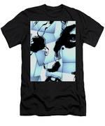 Blue Pop Art Woman's Face 1960's Retro Men's T-Shirt (Athletic Fit)