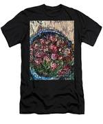 Flower Basket Men's T-Shirt (Athletic Fit) by Laurie Lundquist