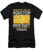 Harrier Funny Dog Addiction Men's T-Shirt (Athletic Fit)
