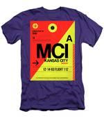 Mci Kansas City Luggage Tag I Men's T-Shirt (Athletic Fit)