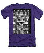 New York City Fire Escapes Men's T-Shirt (Athletic Fit)