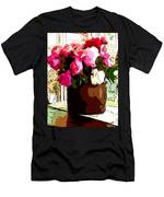 Peonies Free Men's T-Shirt (Athletic Fit)