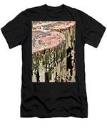 Pilings In Abstract Men's T-Shirt (Athletic Fit)