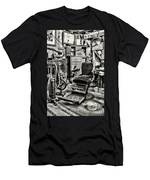 Vintage Dentist Office And Drill Black And White Men's T-Shirt (Athletic Fit)