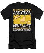 Yorkshire Terrier Funny Dog Addiction Men's T-Shirt (Athletic Fit)