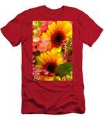 Bright Spring Flowers Men's T-Shirt (Athletic Fit)