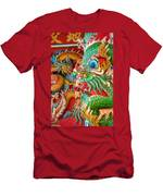 Chinese Temple Detail Men's T-Shirt (Athletic Fit)