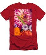 Dahlia Zinnia Bachelor's Buttons Flowers Men's T-Shirt (Athletic Fit)