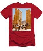 Hellenistic Gateway In Petra-jordan  Men's T-Shirt (Athletic Fit)