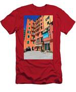 homes and promenade in Camogli Men's T-Shirt (Athletic Fit)
