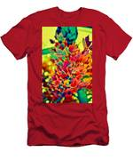 Leaves In Abstract Men's T-Shirt (Athletic Fit)
