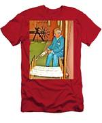 Silk Fiber Spinner At Weaving Factory In Avanos-turkey Men's T-Shirt (Athletic Fit)