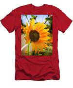 Sunflower With Texture Men's T-Shirt (Athletic Fit)