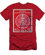 1954 German Democratic Republic Stamp - Berlin Cancelled Men's T-Shirt (Athletic Fit)