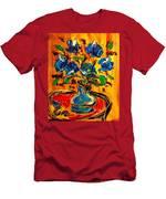Blue Roses Men's T-Shirt (Athletic Fit)