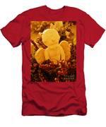 Mischevious Little Cherub Takes A Pee Men's T-Shirt (Athletic Fit)