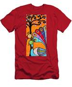 2 Peacocks And Tree Men's T-Shirt (Athletic Fit)