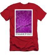 Frankfurt Street Map - Frankfurt Germany Road Map Art On Colored Men's T-Shirt (Athletic Fit)