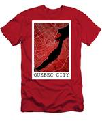 Quebec City Street Map - Quebec City Canada Road Map Art On Colo Men's T-Shirt (Athletic Fit)