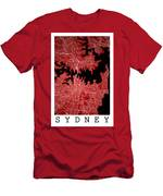 Sydney Street Map - Sydney Australia Road Map Art On Colored Bac Men's T-Shirt (Athletic Fit)