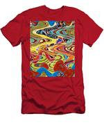 Abstract Background With Bright Colored Waves 17 Men's T-Shirt (Athletic Fit)