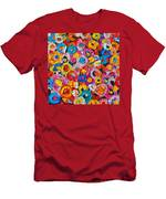 Abstract Colorful Flowers 1 - Paint Joy Series Men's T-Shirt (Athletic Fit)