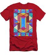 Abstract Colorful Stained Glass Window Design  Men's T-Shirt (Athletic Fit)