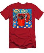 Abstract Hot Coffee In Red Mug Men's T-Shirt (Athletic Fit)
