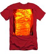 Abstract Orange Men's T-Shirt (Athletic Fit)