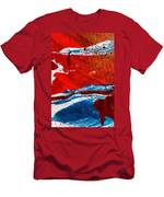 Abstract Original Artwork One Hundred Phoenixes Untitled Number Three Men's T-Shirt (Athletic Fit)