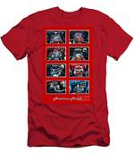American Muscle Red Poster Men's T-Shirt (Athletic Fit)