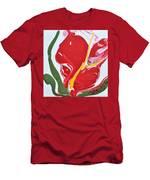 Anthurium Fire Men's T-Shirt (Athletic Fit)