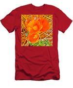 Apricot Globemallow In Vermilion Cliffs National Monument-arizona Men's T-Shirt (Athletic Fit)