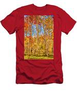 Aspen Fall Foliage Portrait Red Gold And Yellow  Men's T-Shirt (Athletic Fit)