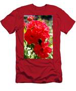 Beautiful Red Roses Men's T-Shirt (Athletic Fit)