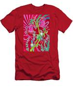 Blue Bird Trio And Heart Men's T-Shirt (Athletic Fit)
