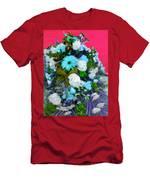 Blue Bouquet Men's T-Shirt (Athletic Fit)