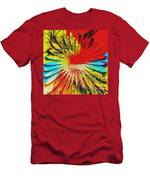 Bold Floral Hat Abstract Men's T-Shirt (Athletic Fit)