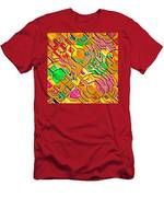 Candy - Lolly Pop Abstract  Men's T-Shirt (Athletic Fit)