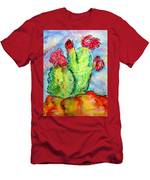 Cartoon Cactus Men's T-Shirt (Athletic Fit)