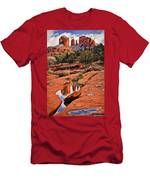 Cathedral Rock In Winter Men's T-Shirt (Athletic Fit)