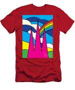 Cathedral Spires Stained Glass Lichfield Men's T-Shirt (Athletic Fit)