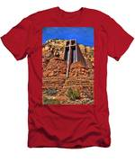 Chapel Of The Holy Cross  Sedona Arizona Men's T-Shirt (Athletic Fit)