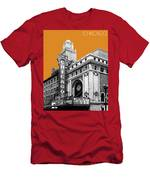 Chicago Theater - Dark Orange Men's T-Shirt (Athletic Fit)