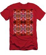 Chive Abstract Red Men's T-Shirt (Athletic Fit)