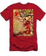 Claret Cup Cactus On Panther Junction Nature Trail In Big Bend National Park-texas Men's T-Shirt (Athletic Fit)