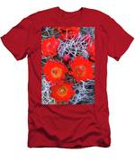 Claretcup Cactus Blooms Men's T-Shirt (Athletic Fit)